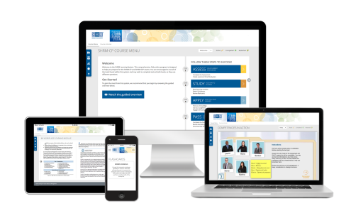2018 SHRM Learning System for SHRM Certification in various screen formats