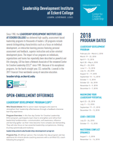 Leadership Development Institute - 2018 Leadership Programs and Dates